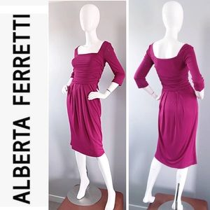 Alberta Ferretti Pink 3/4 Sleeves Vintage Dress 4
